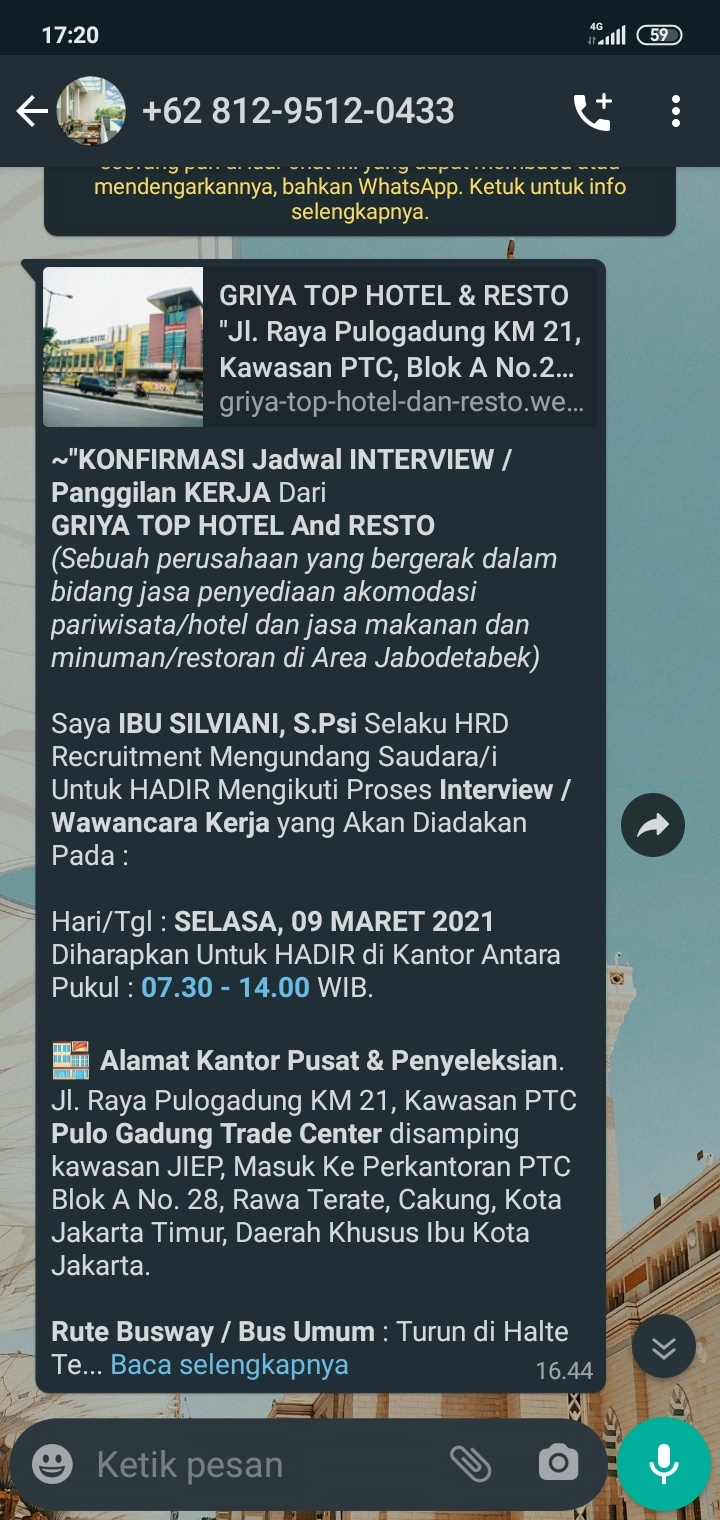 Saya Dapat Panggilan Interview Dari D Green Hotel And Resto Itu Beneran Apa Bukan Ya Mohon Yang Tau